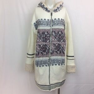 Free People Alpine Escape Jacket Hoodie Full Zip